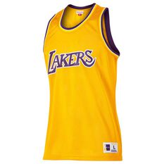 Mitchell and Ness Mens Los Angeles Lakers Mesh Tank Gold S, Gold, rebel_hi-res