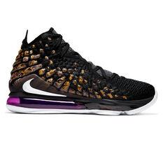 Nike LeBron XVII Mens Basketball Shoes Black / White US 7, , rebel_hi-res