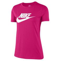 Nike Womens Sportswear Essential Tee Pink XS, Pink, rebel_hi-res