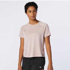 New Balance Womens Q Speed Jacquard Running Tee Pink XS, Pink, rebel_hi-res
