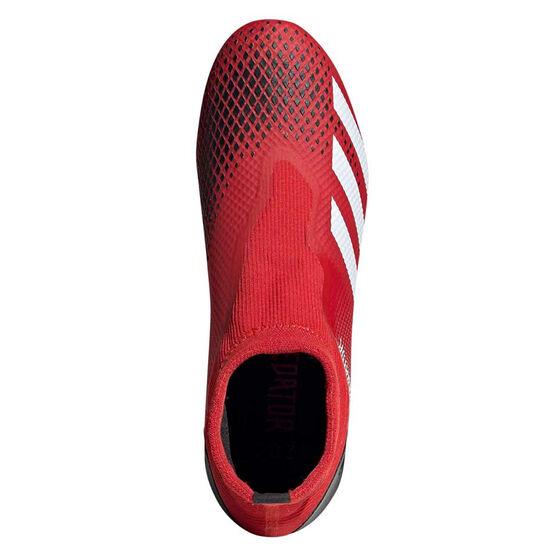 adidas Predator 20.3 Laceless Football Boots, Red / White, rebel_hi-res