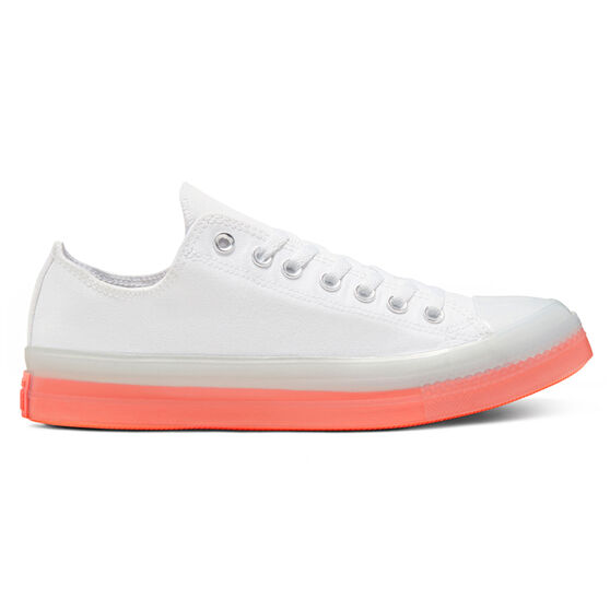 Converse Chuck Taylor All Star Stretch Canvas Casual Shoes, White/Orange, rebel_hi-res