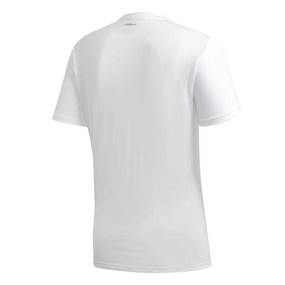 adidas Mens Fast Graphic Tee, White, rebel_hi-res
