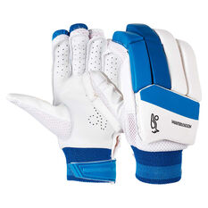 Kookaburra Pace Pro 5.0 Junior Cricket Batting Gloves White Youth Right Hand, White, rebel_hi-res