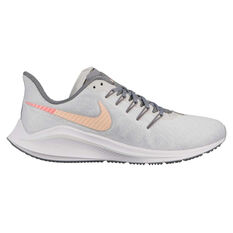 Nike Air Zoom Vomero 14 Womens Running Shoes White / Red US 6, White / Red, rebel_hi-res