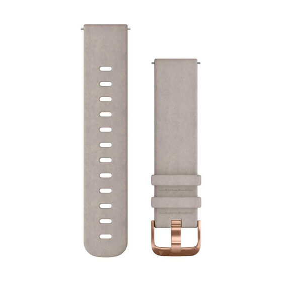 Garmin Quick Release 20mm Greyed sued / Rose Gold Watch Band, , rebel_hi-res
