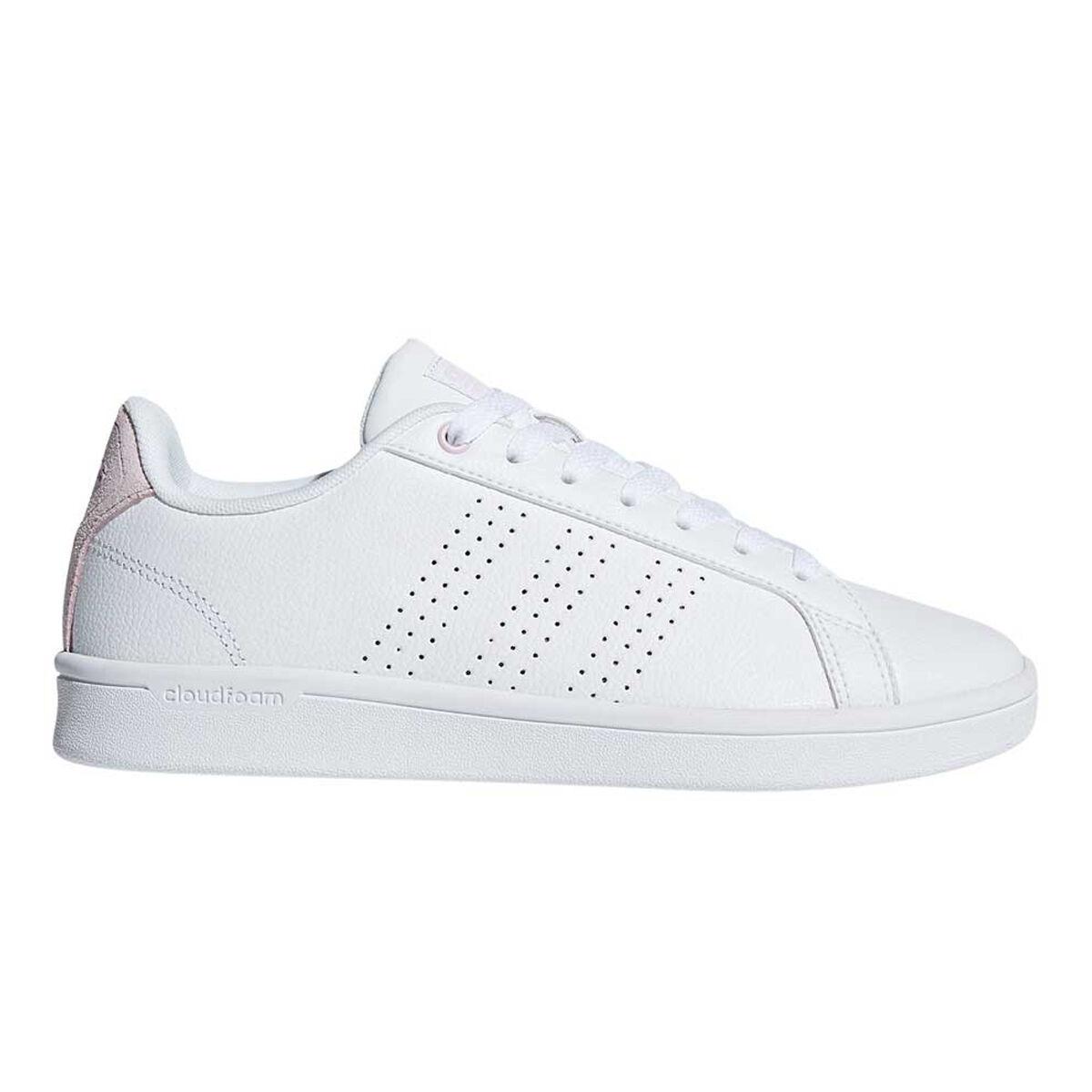 adidas Cloudfoam Advantage Womens Casual Shoes Pink White US 6