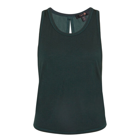 L'urv Womens Tranquillity Tank, Green, rebel_hi-res