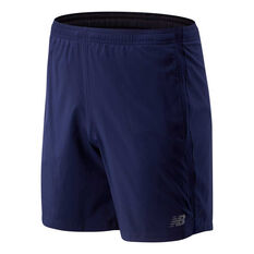 New Balance Mens Accelerate 7in Running Shorts Navy M, Navy, rebel_hi-res