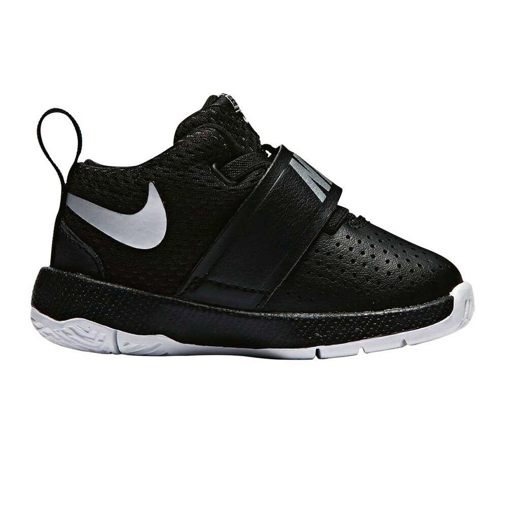Nike Team Hustle D 8 Toddlers Shoes Black   Silver US 4  59cafc6c4c67d