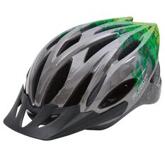 Flight Explorer Kids Bike Helmet Charcoal / Green 51 to 55cm, , rebel_hi-res
