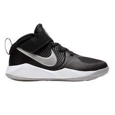 Nike Team Hustle D 9 Kids Basketball Shoes Black / White US 11, Black / White, rebel_hi-res