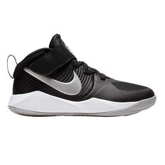 online store 70d64 010dd Nike Team Hustle D 9 Kids Basketball Shoes Black   White US 11, Black