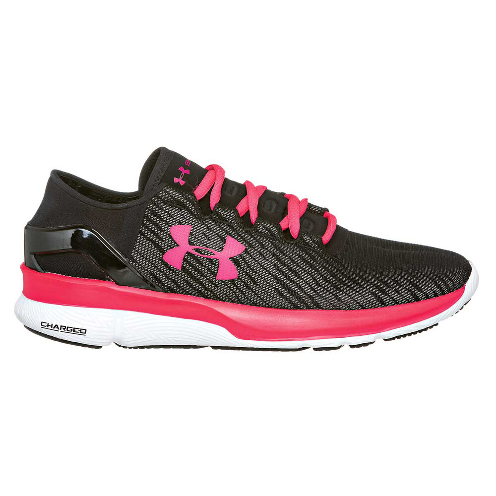 Under Armour Speedform Apollo 2 Womens Running Shoes Black   Pink US ... 9886c0184