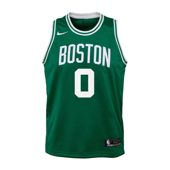 Nike Boston Celtics Jayson Tatum 2020/21 Kids Icon Swingman Jersey Green S, Green, rebel_hi-res