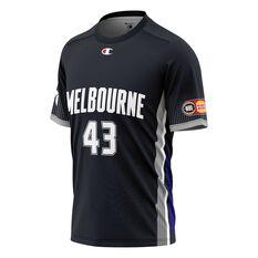 Melbourne United Chris Goulding Mens Shooting Tee Black XS, Black, rebel_hi-res