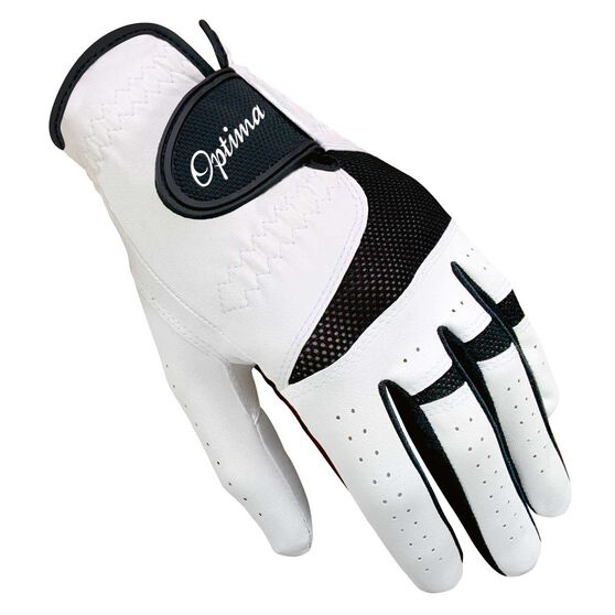 Optima XTD All Weather Golf Glove, White / Black, rebel_hi-res