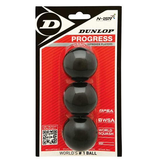 Dunlop Progress 3 Pack Squash Balls, , rebel_hi-res