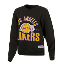 Mitchell & Ness LA Lakers All Stars Logo Sweatshirt Black XS, Black, rebel_hi-res