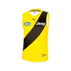 Richmond Tigers 2021 Mens Away Guernsey Yellow S, Yellow, rebel_hi-res