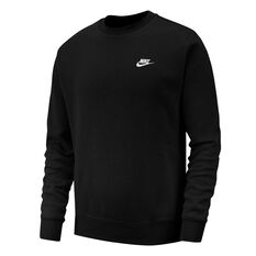 Nike Sportswear Mens Club Sweatshirt Black XS, Black, rebel_hi-res