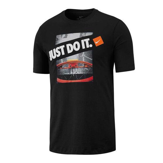 Nike Mens Dri-FIT Basketball Tee, Black, rebel_hi-res