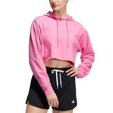 adidas Womens 3 Bar Text Sweatshirt Pink XS, Pink, rebel_hi-res