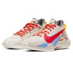 Nike Zoom Freak 2 Kids Basketball Shoes, Neutral, rebel_hi-res