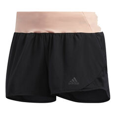 adidas Womens Run It 3in Shorts Black XS, Black, rebel_hi-res