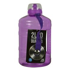 Russell Athletics 2L PD Dual Cap Water Bottle 2200ml Grape, , rebel_hi-res