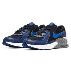 Nike Air Max Excee Kids Casual Shoes, Black/Blue, rebel_hi-res