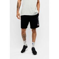 Champion Mens Script Jersey Shorts Black S, Black, rebel_hi-res