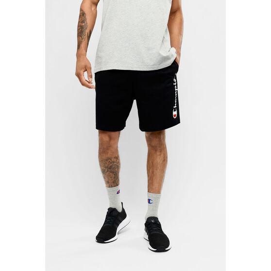 Champion Mens Script Jersey Shorts, Black, rebel_hi-res