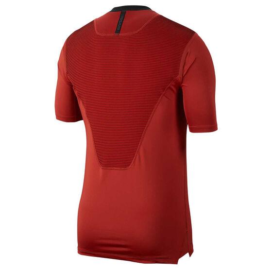 Nike Pro Mens AeroAdapt Tee Red L, Red, rebel_hi-res