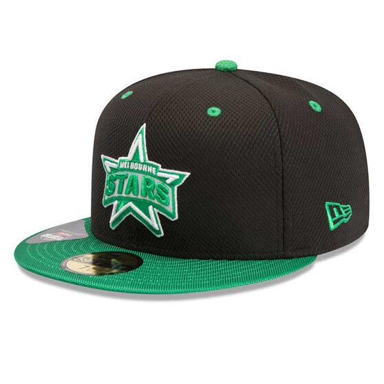 Melbourne Stars New Era 59FIFTY Away Cap Green 7 3 / 8in, Green, rebel_hi-res