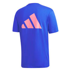 adidas Mens Athletics Graphic Tee, Blue, rebel_hi-res