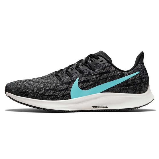 Nike Air Zoom Pegasus 36 Mens Running Shoes, Black / Green, rebel_hi-res