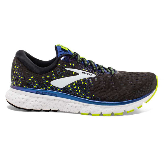Brooks Glycerin 17 Mens Running Shoes, Black / Blue, rebel_hi-res