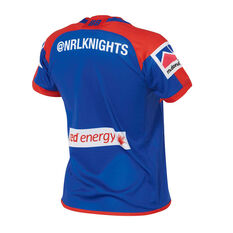 Newcastle Knights 2019 Kids Home Jersey Blue / Red 8, Blue / Red, rebel_hi-res
