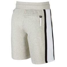 Nike Air Mens French Terry Shorts Grey XS, Grey, rebel_hi-res