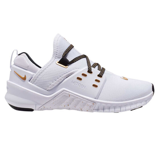 Nike Free Metcon 2 Womens Training Shoes White / Gold US 6, White / Gold, rebel_hi-res