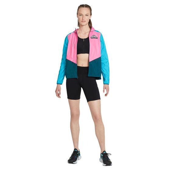 Nike Womens Shield Trail Running Jacket, Pink, rebel_hi-res