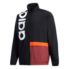 adidas Mens New Authentic Jacket Black S, Black, rebel_hi-res