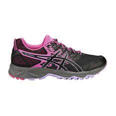 Asics Gel Sonoma 3 Womens Trail Running Shoes Black / Pink US 6, Black / Pink, rebel_hi-res