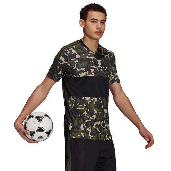 adidas Mens Tiro Training Jersey, Black, rebel_hi-res