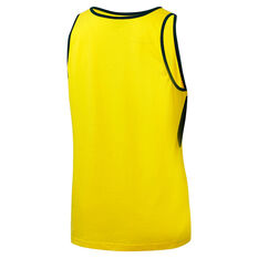Cricket Australia 2018/19 Mens Supporter Singlet Yellow S, Yellow, rebel_hi-res
