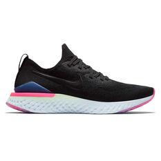 Nike Epic React Flyknit 2 Mens Running Shoes Black / Green US 7, Black / Green, rebel_hi-res