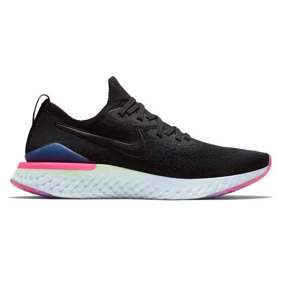 best service 435bd bca69 Nike Epic React Flyknit 2 Mens Running Shoes Black   Green US 8, Black