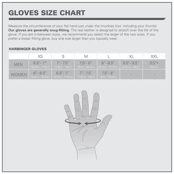 Harbinger Full Finger Mens Power Glove, Black, rebel_hi-res
