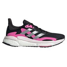 adidas SolarBoost 3 Womens Running Shoes Black/Pink US 6, Black/Pink, rebel_hi-res